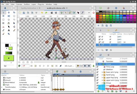 Screenshot Synfig Studio Windows 8