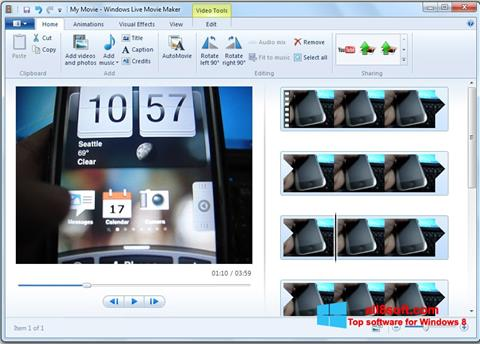 Screenshot Windows Live Movie Maker Windows 8