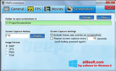 Screenshot Fraps Windows 8