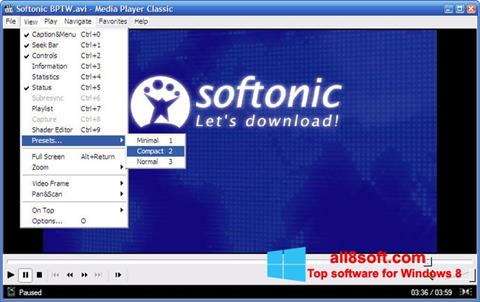 Screenshot Media Player Classic Windows 8