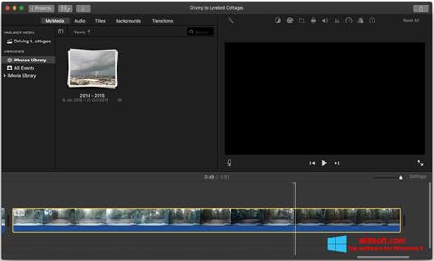 Screenshot iMovie Windows 8