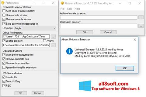 Screenshot Universal Extractor Windows 8