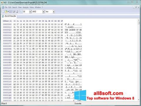 Screenshot HxD Hex Editor Windows 8