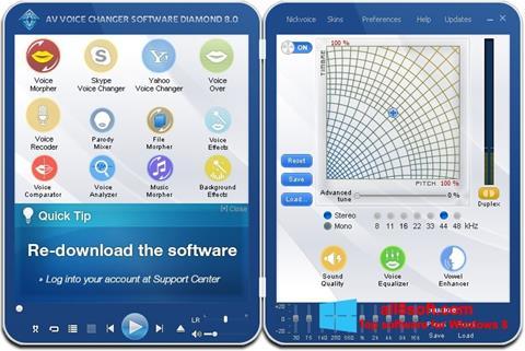 Screenshot AV Voice Changer Diamond Windows 8