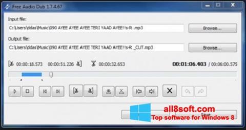 Screenshot Free Audio Dub Windows 8