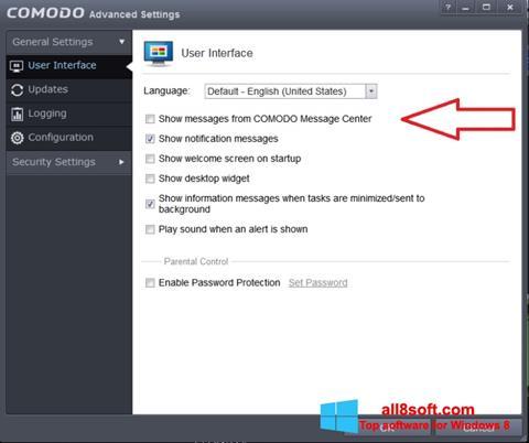 Screenshot Comodo Windows 8
