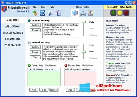 Screenshot Privatefirewall Windows 8