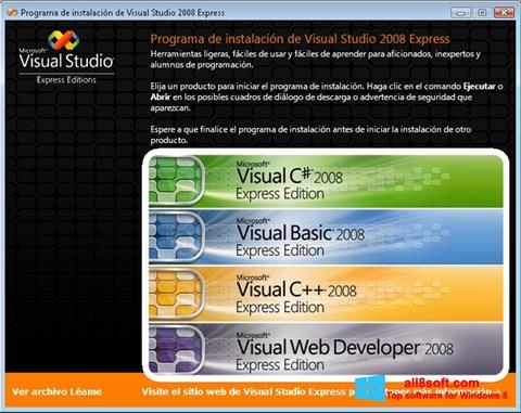 Screenshot Microsoft Visual Studio Windows 8
